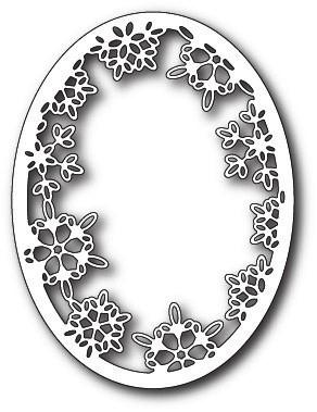 Memorybox Stanzform Rahmen oval mit Schneeflocken / Batavia Snowflake Oval 99816