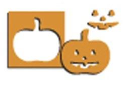 EK Success Hebel-Motivstanzer SMALL Kürbis / pumpkin PSP186C ( orange )