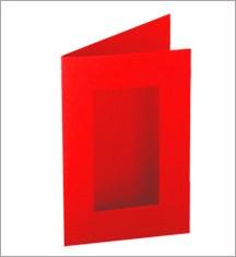 Allstar Karte rechteckig mit Fenster / card rectangle w/window A