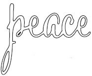 Savvystamps Stanzform ' peace ' 10173