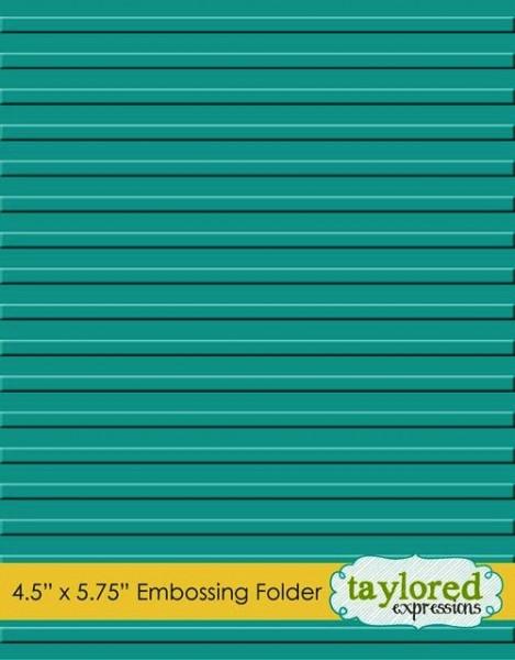 Taylored Expressions Prägefolder Streifen / Corrugated TEEF20