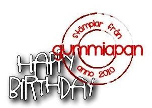 Gummiapan Stanzform ' Happy Birthday ' D180127