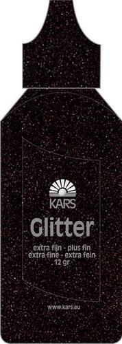 Glitter extra fein Pulver SCHWARZ in Flasche 118576/0007