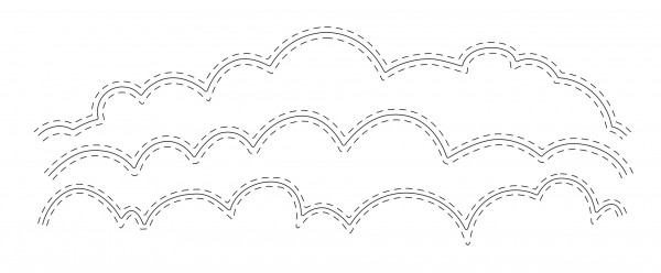 Frantic Stampers Stanzform Stitched Cloud Edgers FRA-DIE-09794