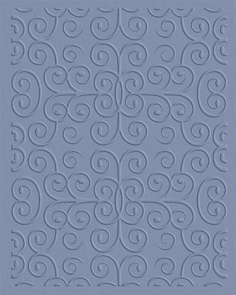 Quickutz Prägefolder groß Wirbel / swirls EF-A2-061