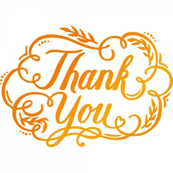 Ultimate Crafts Hotfoil Stamp ' Thank You ' ULT158117