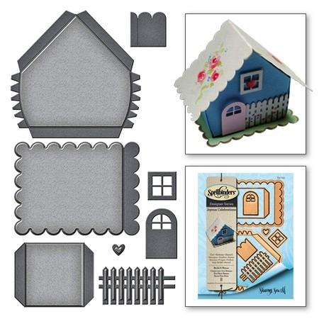 Spellbinders Stanz-u. Prägeform Haus 3-D / Build A House S4-753
