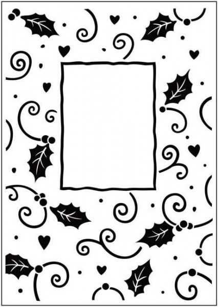 Crafts Too Prägefolder exclusiv Christmas Holly Frame CTFD3034