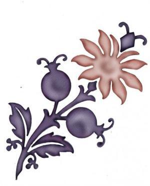 Damask flower 0345