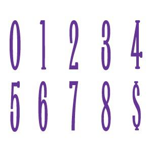 Sizzix Stanzform BIGZ Go Slim Zahlen 5,1 cm 655480