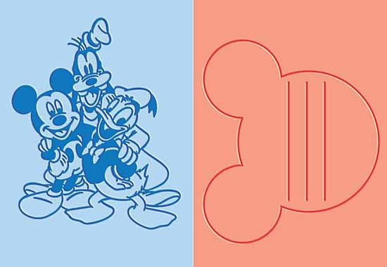 Cuttlebug DISNEY-Prägefolder GROSS 2-er Mickey,Goofy u. Donald / Best Pals 37-1708