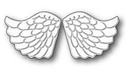 Memory Box Stanzform Engels-Flügel geprägt / Embossed Angel Wings 99230