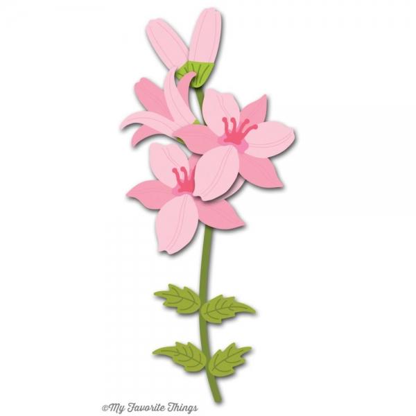 die namics stanzform blume lilie lily mft 446 natur u. Black Bedroom Furniture Sets. Home Design Ideas