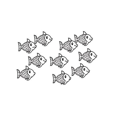 EFCO Holz-Stempel Fische 4510041