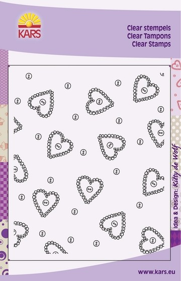 Clear Stamp Hearts & Buttons