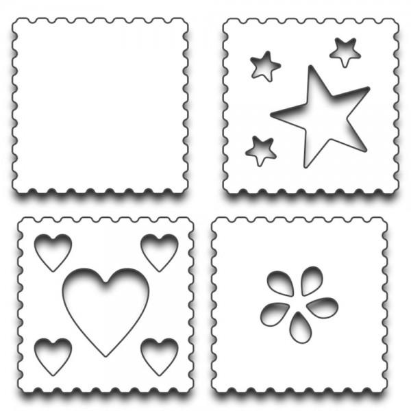 Penny Black Stanzform Briefmarken / Postage 51-190