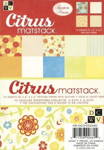Papierblock Citrus Matstack 11,4x16,5 cm MS-003-00040