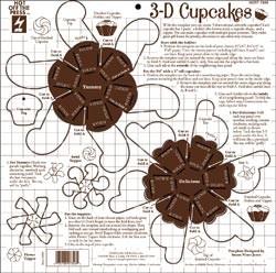 Schablone 3-D Cupcakes 7346