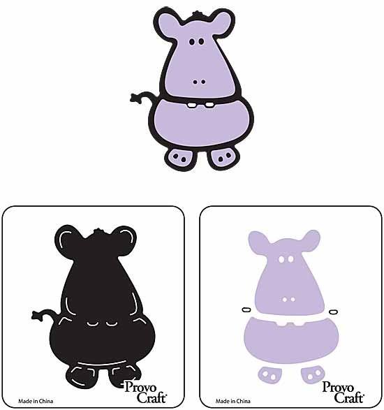 Cuttlekids 2-er Set Nilpferd / hippo 62-0014