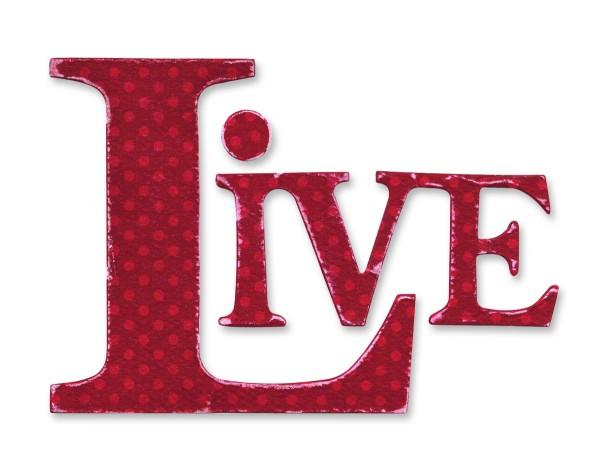 Sizzix Stanzform Originals LARGE Buchstaben LIVE / phrase Live 656080