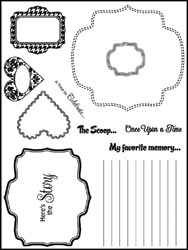 Stamping Scrapping Clear Stamps Dash it all SMS3023