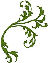 Blatt floral / leaf flourish 0388