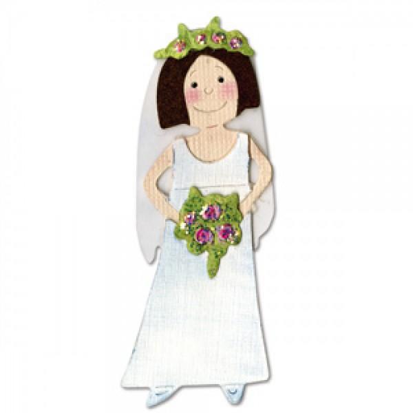 Sizzix Stanzform Sizzlits MEDIUM 1-er Braut # 2 / bride # 2 655278