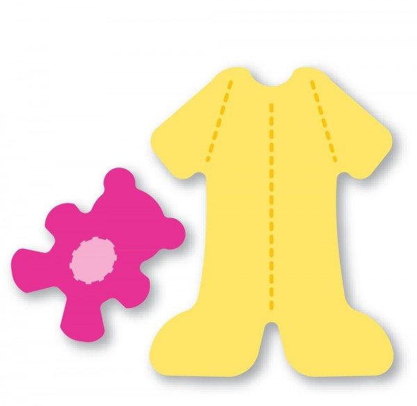 Sizzix Originals SMALL Stanzform Schlafanzug u.Bär /Bitty pajamas & bear 38-0121 / 654578