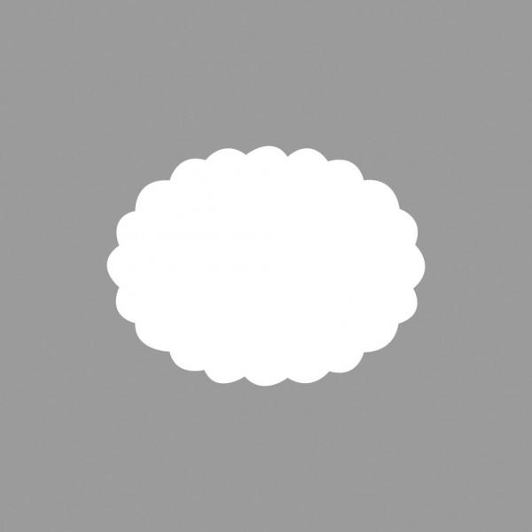 Rayher Motivstanzer Oval gewellt 5 x 3,2 cm 89-744-00 ( hell-bla