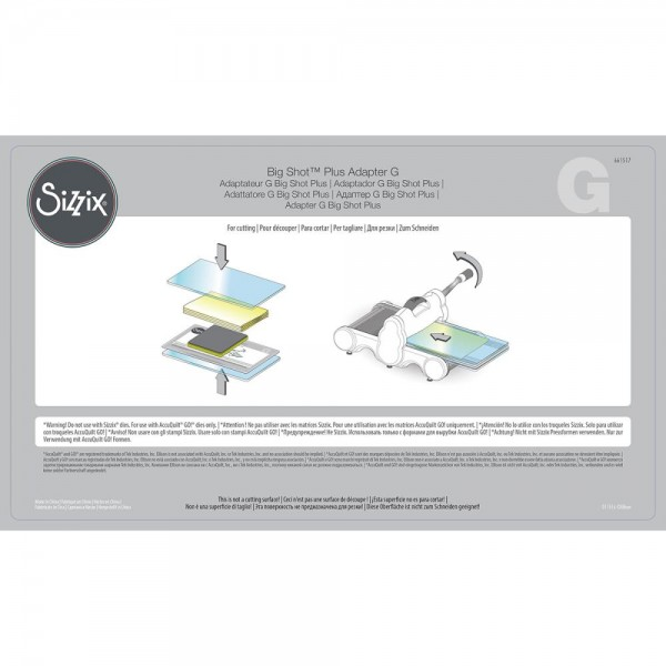 Sizzix Big Shot PLUS Adapter Plate G ( für AccuQuilt Go! Stanzformen ) 661517
