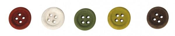 Holz-Knöpfe BUNT 1 cm 56-101-49