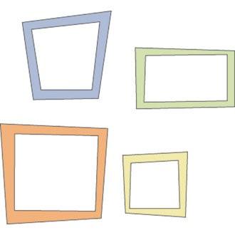 Cuttlebug Stanzform 4-er Set KLEIN Rahmen trapezförmig / trapezoid frames 37-1211