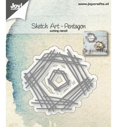 Joycrafts Stanzform Sketch Art Pentagon 6002/1245