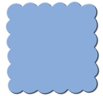 Motivstanzer Maxi Quadrat gewellt 3,8 cm ( hellblau ) UR 1945 00