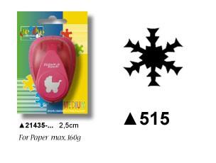 Motivstanzer Schneeflocke medium ( bordeaux ) 21435-515