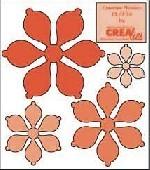 Crealies Creative Flowers # 10 ( apricot ) CLCF-10