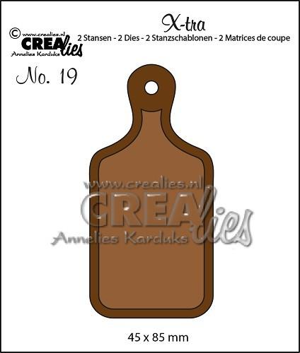 Crealies Stanzform X-tra Nr.19 Schneidebrett klein / Bread Board CLXTRA19