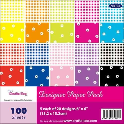Paper Pack GINGHAM and FLOWERS 15,2 x 15,2 cm CTBC301