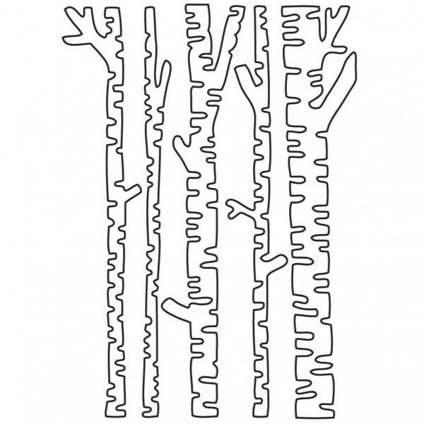 Savvystamps Stanzform Birkenstämme / Birch Tree 10008