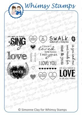 Whimsy Stamps Cling-Stempelplatte All You Need Is Love 10238S