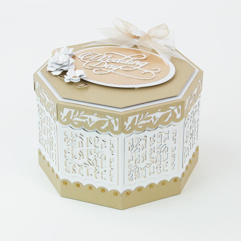 Tonic Studios-à coudre FOREVER-Octagon Kaléidoscope box die set