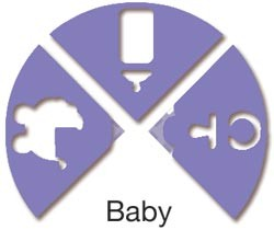 Marvy 3-fach Eckstanzer BABY ( rot ) LV-TCP 01
