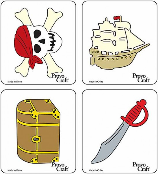 Cuttlekids 4-er Set Pirat / pirate 62-0082