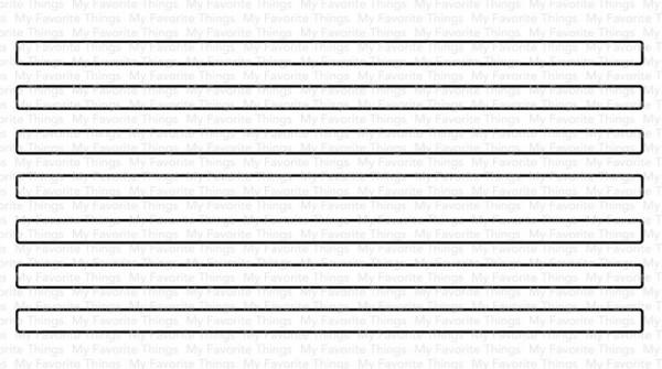 Dienamics Stanzform dünne Streifen / Skinny Stripes - Vertical MFT-1586