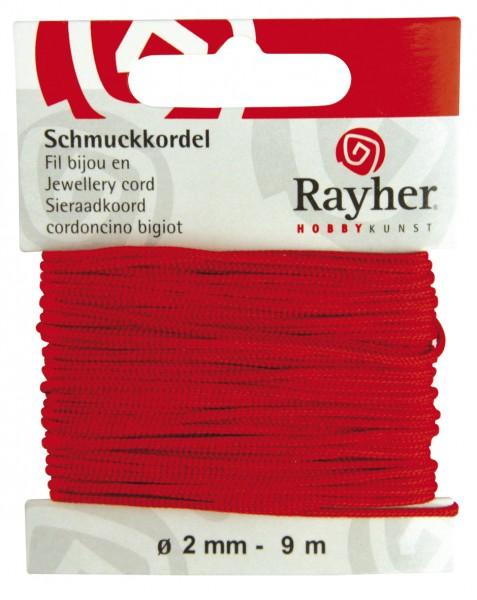 Schmuckkordel 2 mm ROT 89-569-18