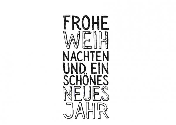 AEH Design Textstempel ' Frohe Weihnachten ..... ' 1456 F