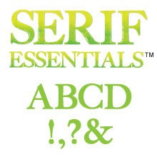 Sizzix Stanzform BIGZ Alphabet Großbuchstaben 5,2 cm / Serif Essentials 655128