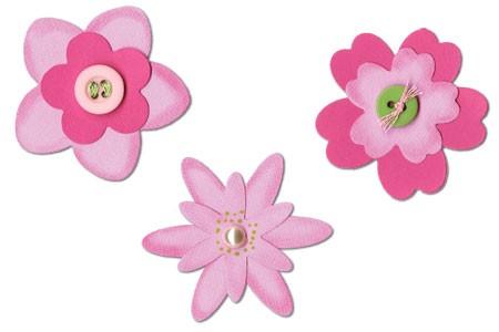 Sizzix Stanzform Sizzlits MEDIUM 3-er Flower Layers Set # 3 656539