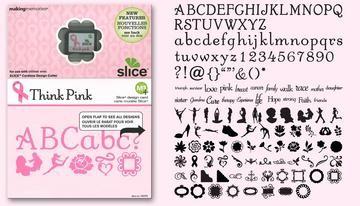 SLICE Design Karte Think Pink 33073 ( MS+ )