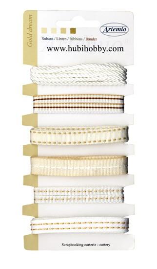 ARTEMIO Bänder-Set Gold dream ( weiss-beige Töne ) 11005007